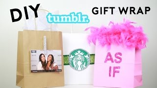 DIY Tumblr Gift Wrap + DIY Gift Bags From The Dollar Store