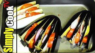 Баклажаны запеченные с овощами под сметанным соусом  Простой рецепт от Simply Cook TV