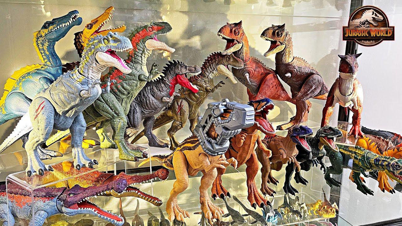 Dan Surprise Dinosaur Collection House Tour! Jurassic World Dinosaurs Collection Shelf Tour
