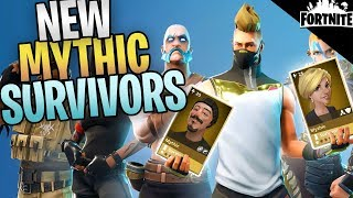 FORTNITE - New Mythic Survivors That Aren't Leads (Leaked Upcoming Heroes)