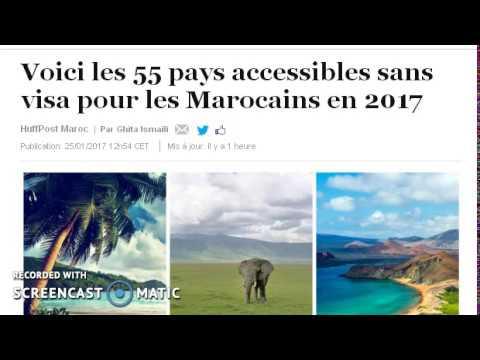 Voici les 55 pays accessibles sans visa pour les Marocains en 2017