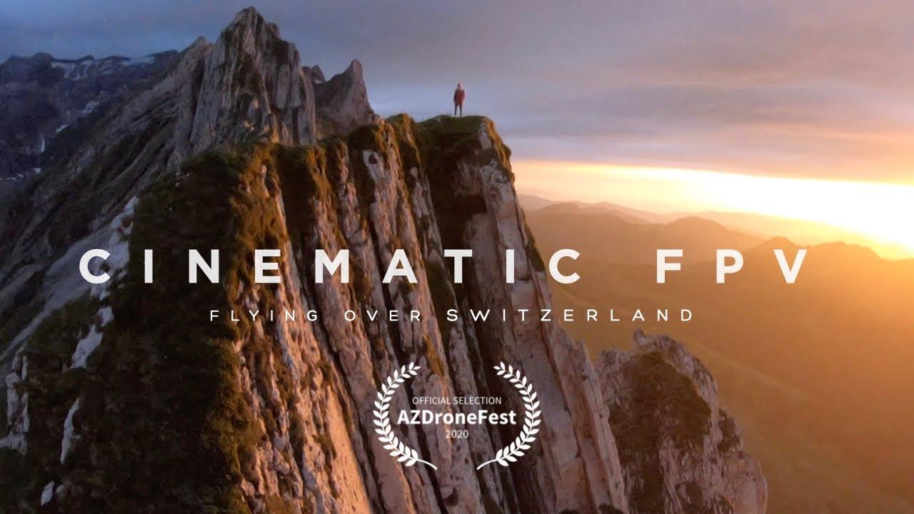 Download Cinematic FPV - Flying Over Switzerland