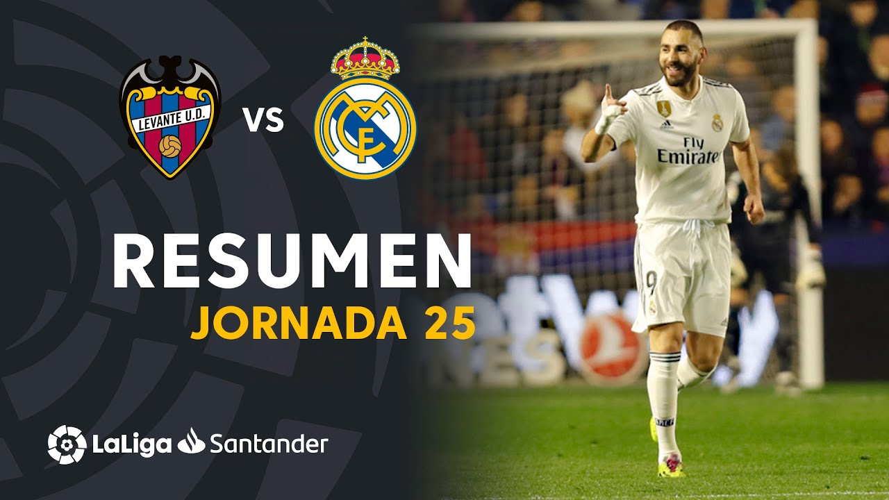 Resumen De Levante Ud Vs Real Madrid 1 2 Youtube