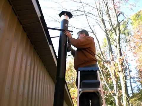 Repairing My Wood Burner S Exhaust Pipe Youtube