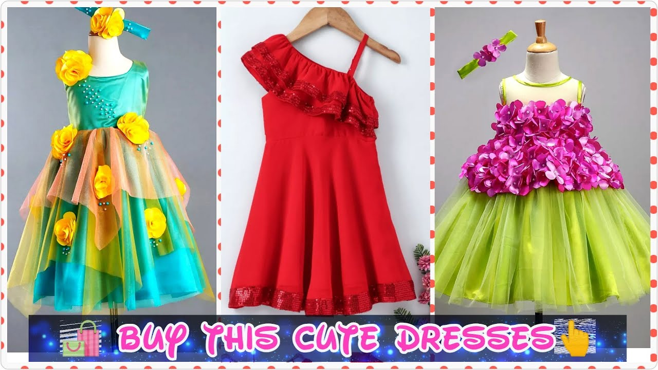 Baby Girls Party Wear Dresses 2020 Beautiful Frock For Baby Girl Birthday Dress Ideas Youtube