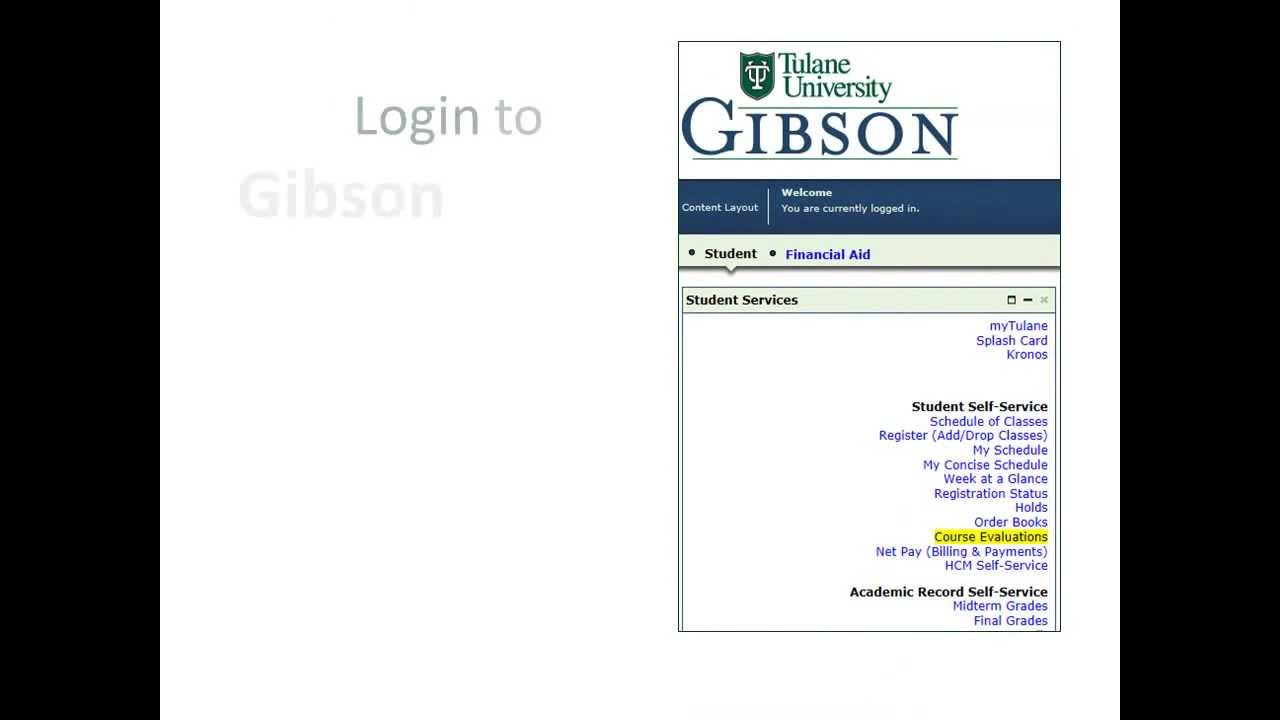 Tulane Gibson Online >> Tulane Students Evaluate Those Courses