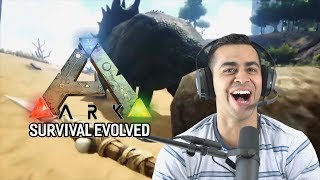 Playing ARK: Survival Evolved for the First Time! | David Lopez