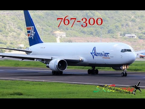 Amerijet International 767-300 departing the Robert L. Bradshaw Int'l Airport, St. Kitts