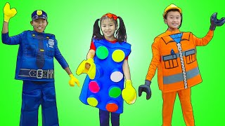 Download Jannie Pretend Play Choosing a Lego Profession Mp3 and Videos