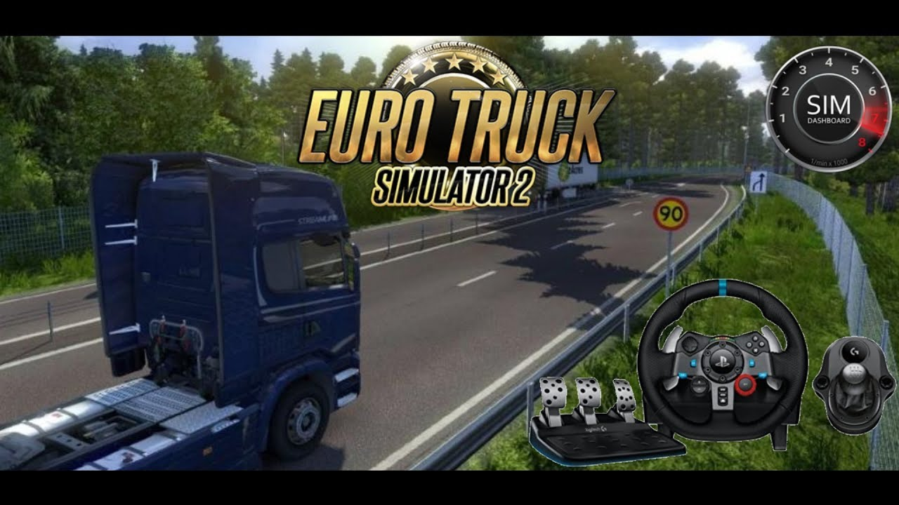 ETS2 With SIM DASHBOARD and Wheelcam!