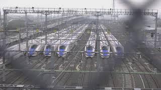 台風19号から3週間が過ぎ、地道に復旧作業が行われてる、長野新幹線車両センター。