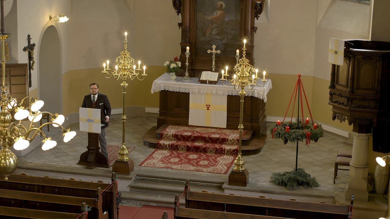 Weihnachtsandacht 2020 in Stenn mit Vikar Matthäus