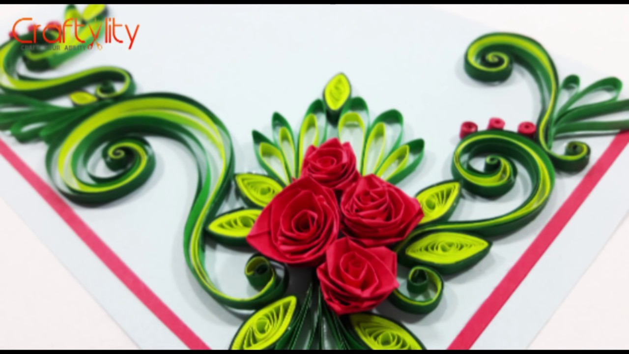 DIY Paper Quilling Flowers Cards Tutorial Art: How to make ...