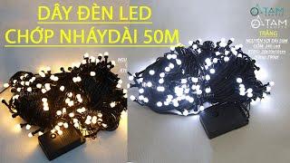 Dây đèn Led chớp nháy cao cấp 50m ánh sáng vàng ấm L-DDL-18