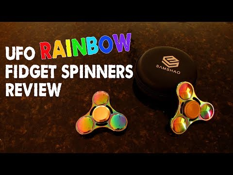 My Fave UFO Rainbow Metallic Fidget Spinners - Review & Spin Test