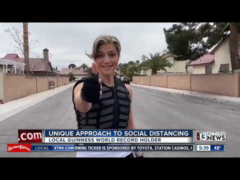 Unique Approach To Social Distancing From Las Vegas Valley World Record Holder