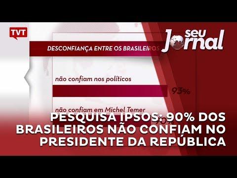 Pesquisa IPSOS: 90% dos brasileiros não confiam no presidente da República
