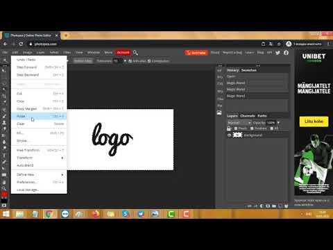 Как в Paint сделать прозрачный фон и онлайн Photoshop