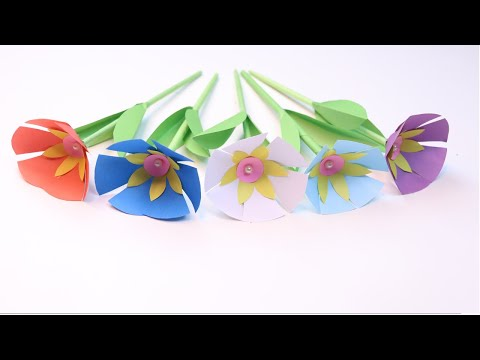 Easy Paper Flowers | Flower Making | DIY paper flower tutorial