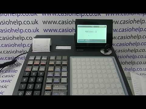 How To Take Weekly, Monthly Or Quarterly Reports On The Casio SE-C3500 Cash Register