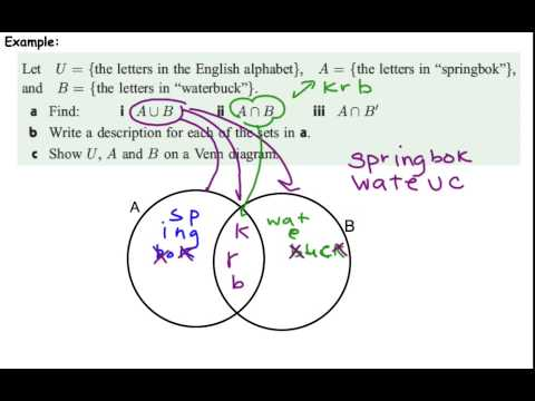 Example 2 of venn diagram with letters youtube example 2 of venn diagram with letters ccuart Image collections