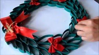 DIY: Guirlanda de natal com Rolo de Papel Higiênico