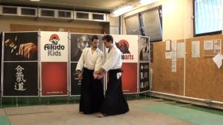 gyakuhanmi katatedori shihonage omote [AIKIDO]  basic technique