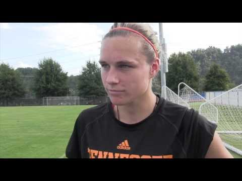 Tennessee Soccer: Hannah Wilkinson Meets With Media (9/12/12)