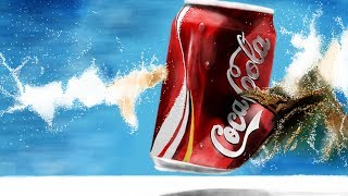 How to draw a burst Coca-Cola can: Paper by 53
