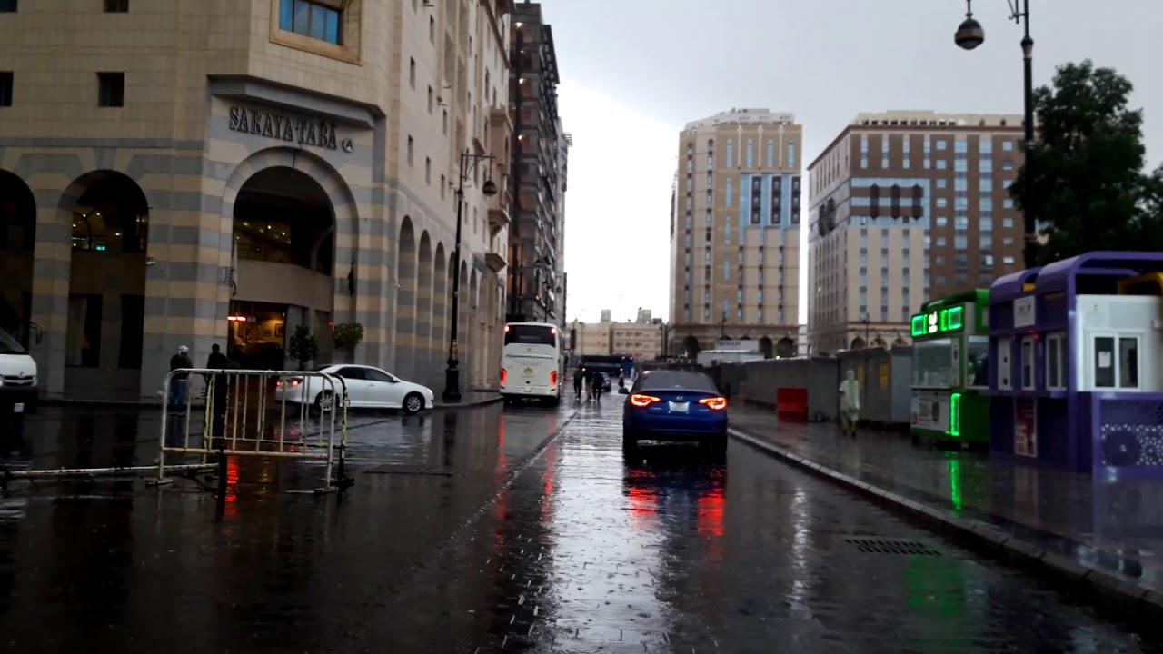 Streets of Madinah during rain|| by MadinaliveTuber irshad