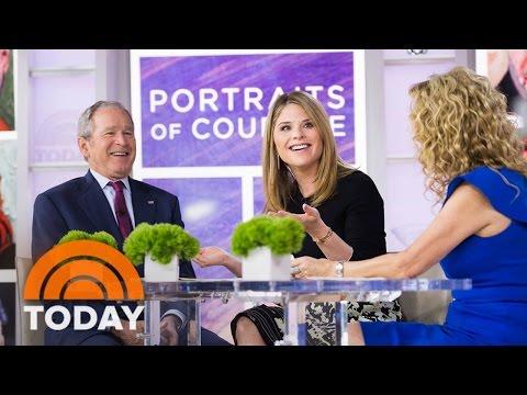 George W. Bush Tells KLG, Jenna About Top White House Moments, Choking On A Pretzel | TODAY