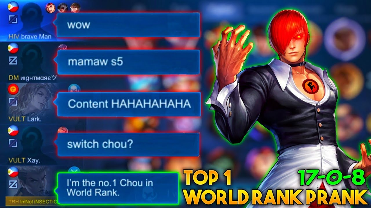 iNSECTiON CHOU PRANK TOP 1 WORLD RANK ! | My TEAMMATES Shocked to my Skills!