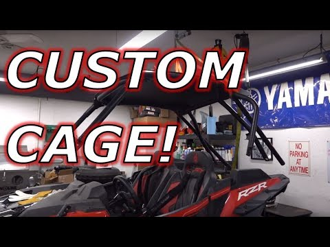 Project 168 RZR Turbo S FULL ROLL CAGE BUILD!