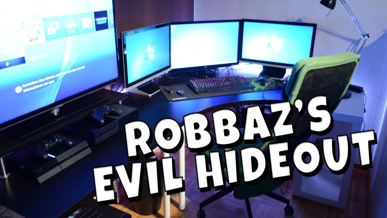 Robbaz's Evil Hideout #1 - Gaming Setup - YouTube