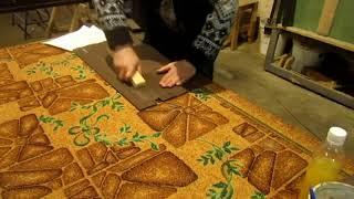 как правильно клеить шпон . How to glue the veneer correctly