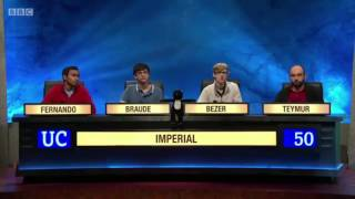 Mayim Bialik and The Big Bang Theory Questions on the University Challenge