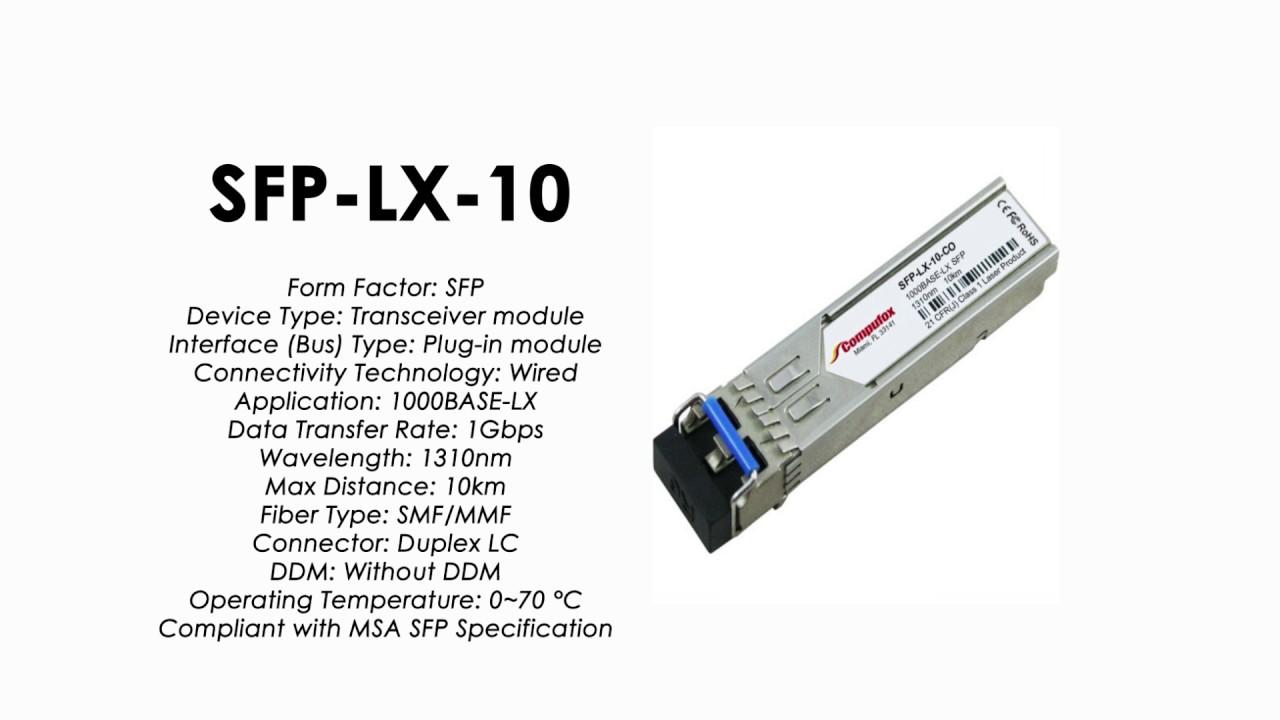 SMF SFP-LX-10 Gigabit SFP For ZyXEL 10km transceiver 1000Base-LX 1310nm