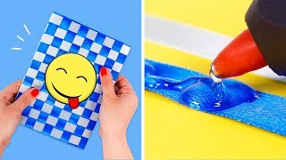 DECORATE YOUR NOTEBOOK 😁📘  DIY in Easy Crafts for Kids ✂📏