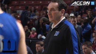 Duke's Coach Krzyzewski Teaches Fundamental Habits Through Basketball | ACC Coaches & Community