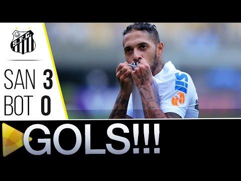 Santos 3 x 0 Botafogo | GOLS | Brasileirão (05/06/16)