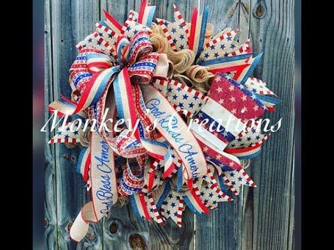 monkey's-creations- -ribbon-wreath-/-easy-diy-patriotic-wreath