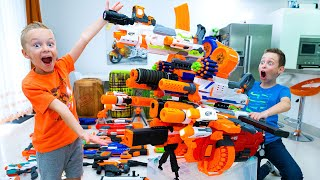 We made probably the World\'s Biggest NERF Blaster !!! 🔥