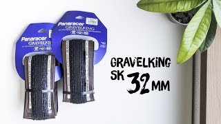 panaracer Gravel King SK tires 32mm Unboxing - Real weight and dimensions