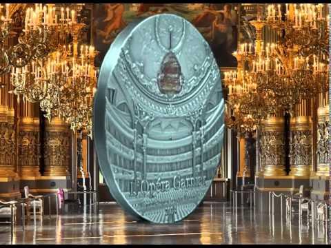 "10$ Silver Coin - Palau 2013 - ""Paris Opera Garnier"" - Famous opera crystal series"