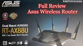Asus Wireless Router RT-AX88U AX6000 Dual Band Wi-Fi 6 Wireless Router