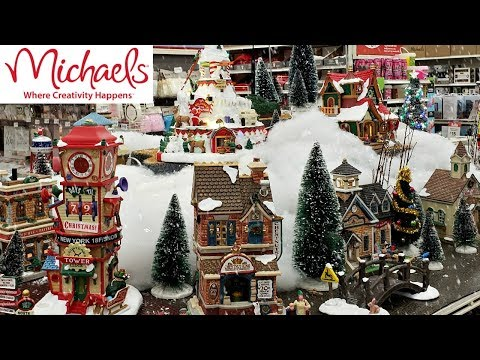 MICHAELS LEMAX CHRISTMAS VILLAGE SHOP WITH ME 2018