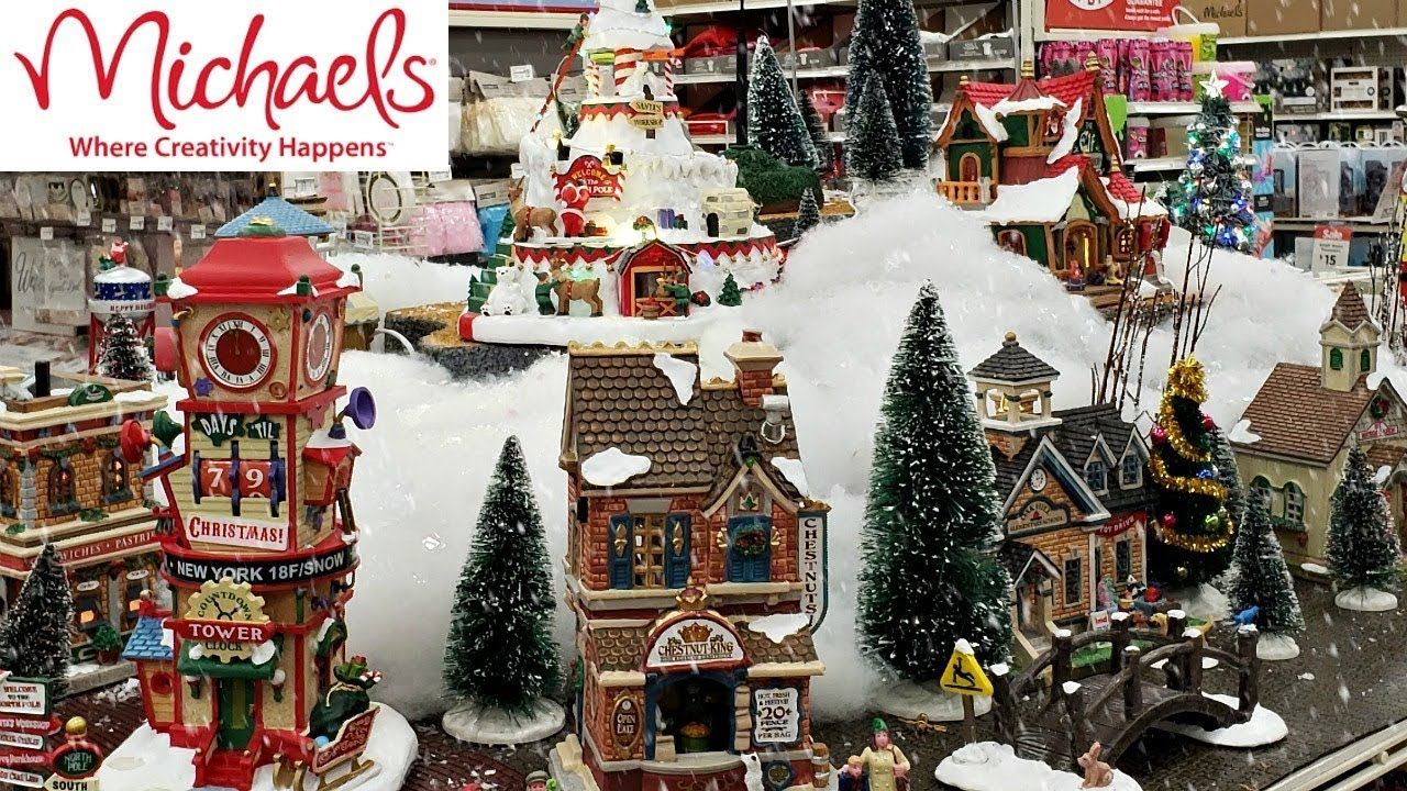 Christmas Town 2019.Michaels Lemax Christmas Village Shop With Me 2018