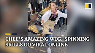 Download Chinese chef's amazing wok-spinning skills go viral online