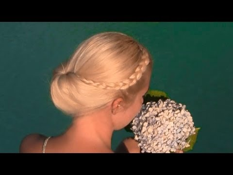 Summer updo hairstyle for medium long hair (Gibson tuck tutorial)