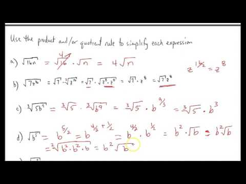 Radical Expressions (Part 2) - Reducing to Lowest Terms